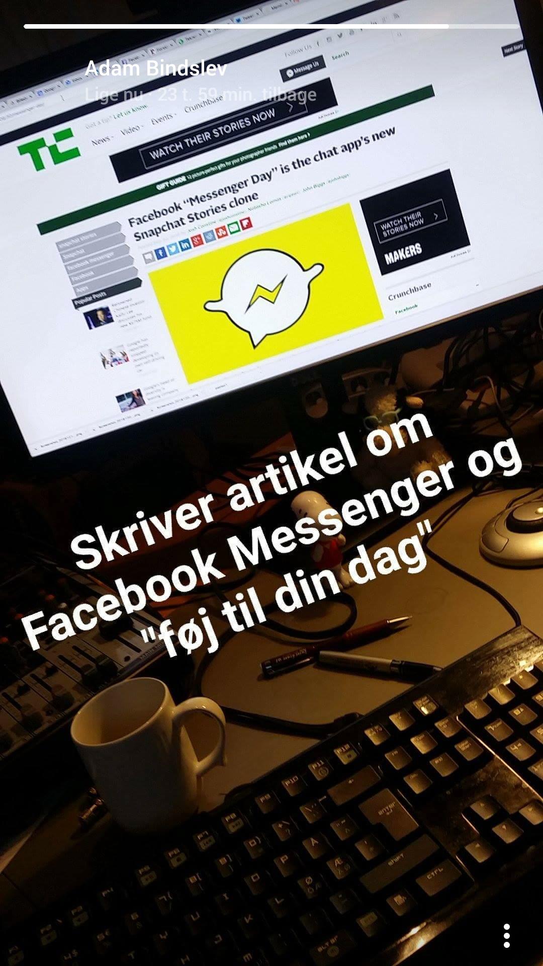 """""""Din dag"""" ruller ud i Facebook Messenger"""